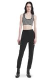 ALEXANDER WANG SLIM FIT TROUSERS WITH BALL CHAIN TRIM PANTS Adult 8_n_f