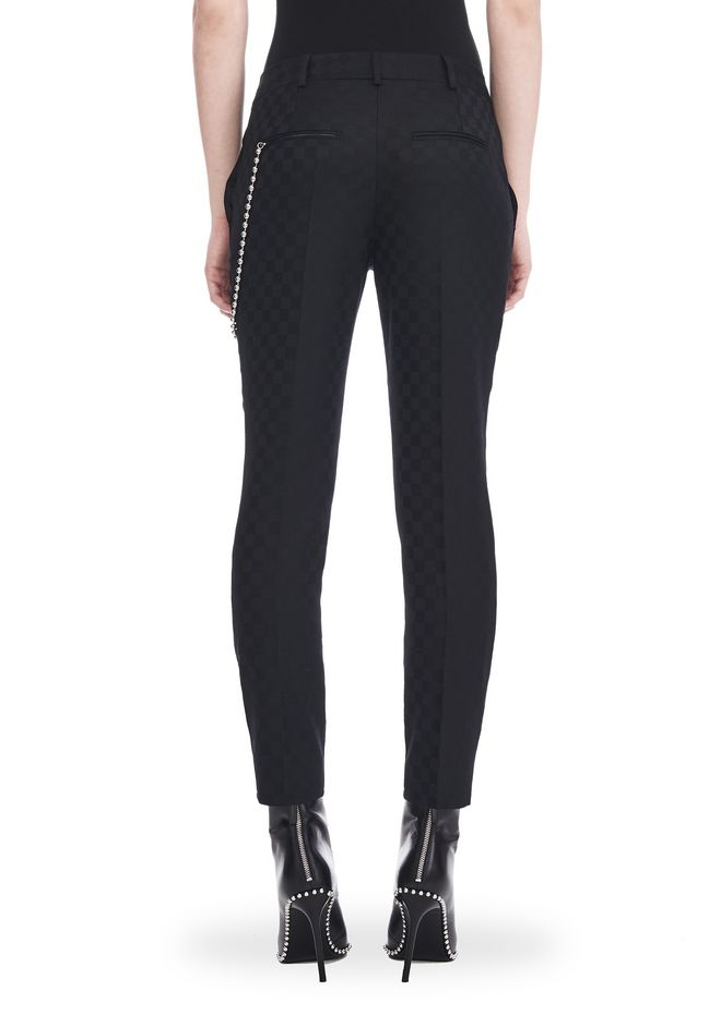 ALEXANDER WANG CROPPED SKATER PANTS WITHBALL CHAIN PANTS Adult 12_n_a