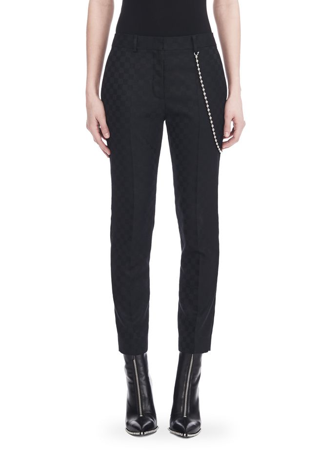 ALEXANDER WANG CROPPED SKATER PANTS WITHBALL CHAIN PANTS Adult 12_n_d