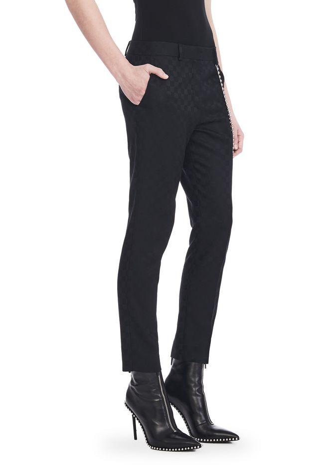 ALEXANDER WANG CROPPED SKATER PANTS WITHBALL CHAIN PANTS Adult 12_n_e