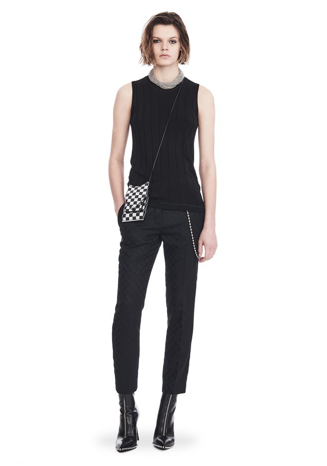 ALEXANDER WANG CROPPED SKATER PANTS WITHBALL CHAIN PANTS Adult 12_n_f