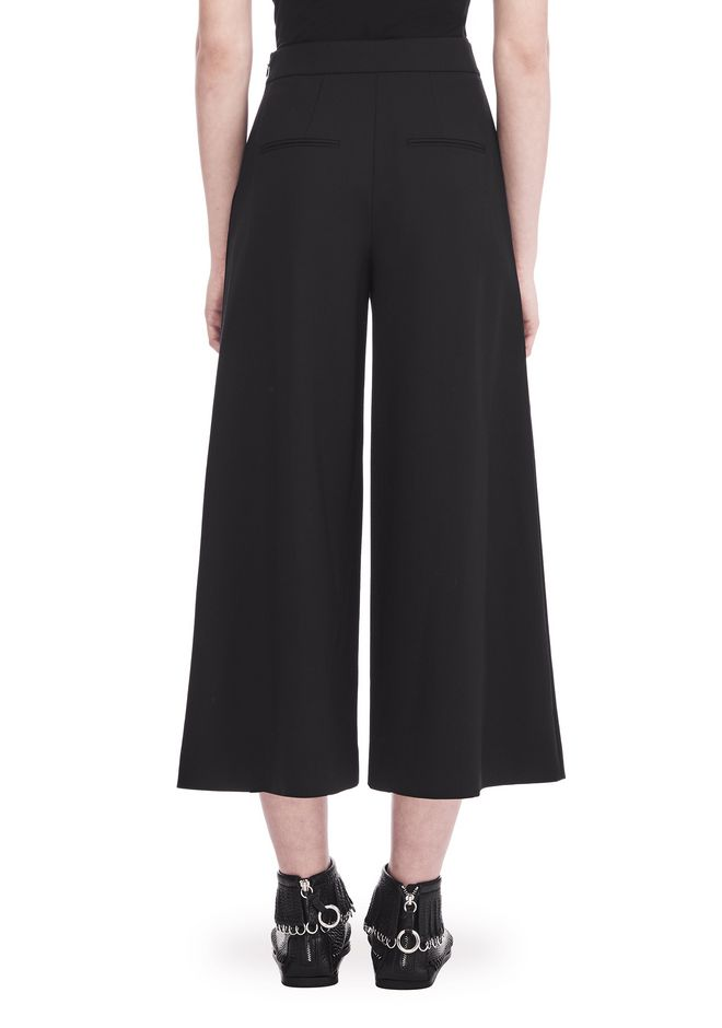ALEXANDER WANG HIGH WAISTED PANT WITH FOLD FRONT DETAIL PANTS Adult 12_n_a