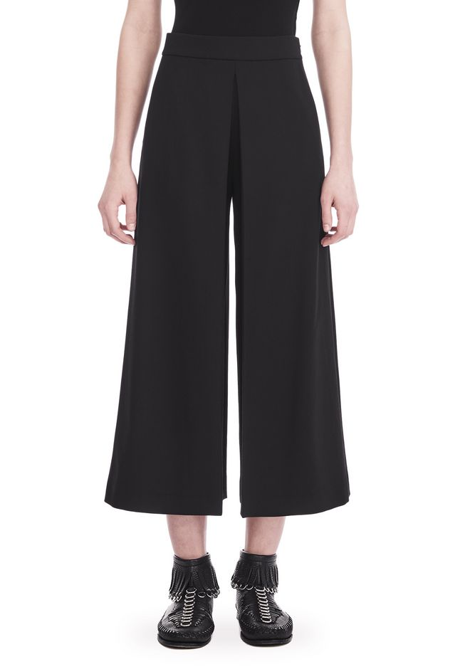 ALEXANDER WANG HIGH WAISTED PANT WITH FOLD FRONT DETAIL PANTS Adult 12_n_d
