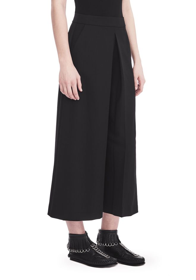 ALEXANDER WANG HIGH WAISTED PANT WITH FOLD FRONT DETAIL PANTS Adult 12_n_e