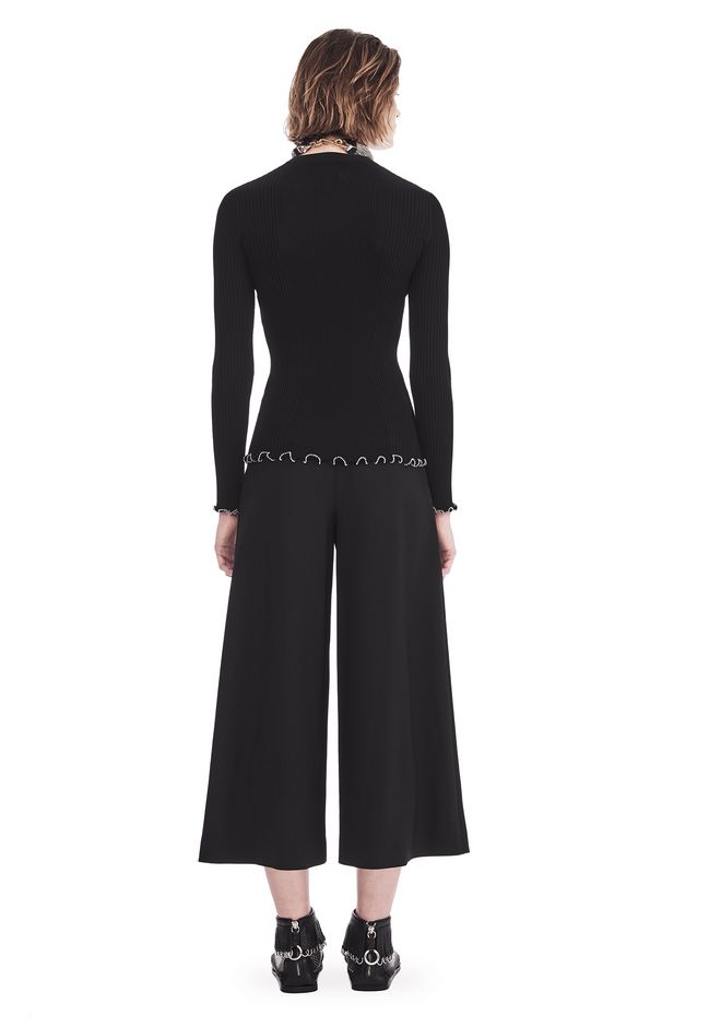 ALEXANDER WANG HIGH WAISTED PANT WITH FOLD FRONT DETAIL PANTS Adult 12_n_r