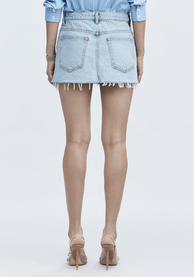 ALEXANDER WANG EXCLUSIVE DENIM MINI SKIRT  JEAN Adult 12_n_d