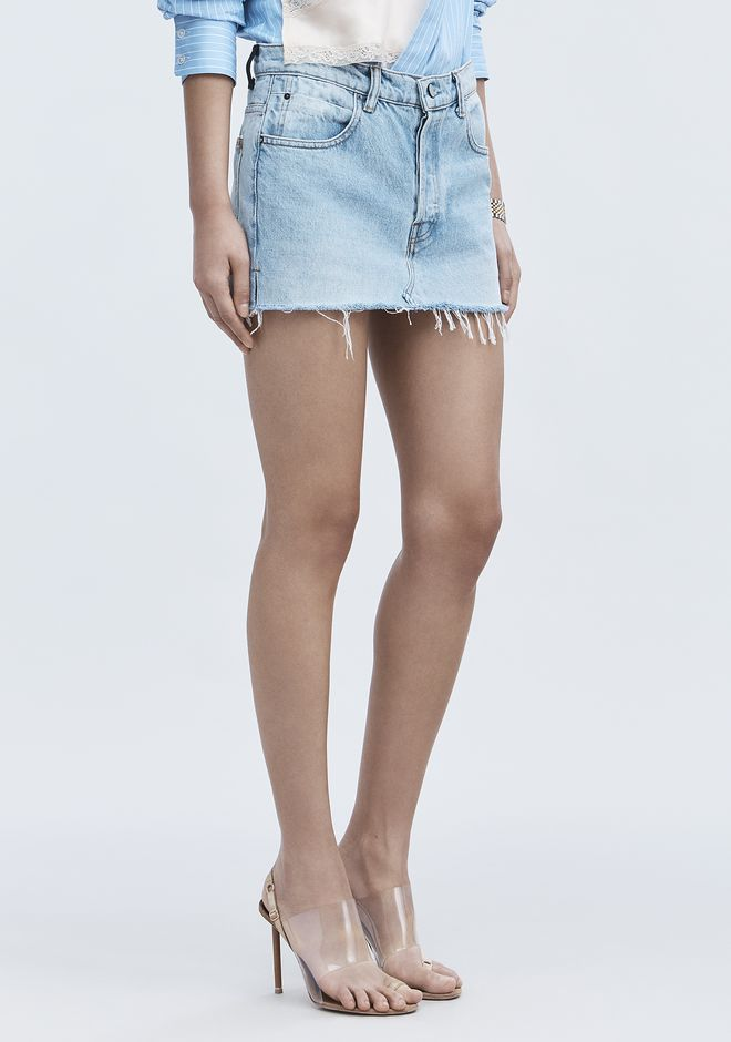 ALEXANDER WANG EXCLUSIVE DENIM MINI SKIRT  JEAN Adult 12_n_e
