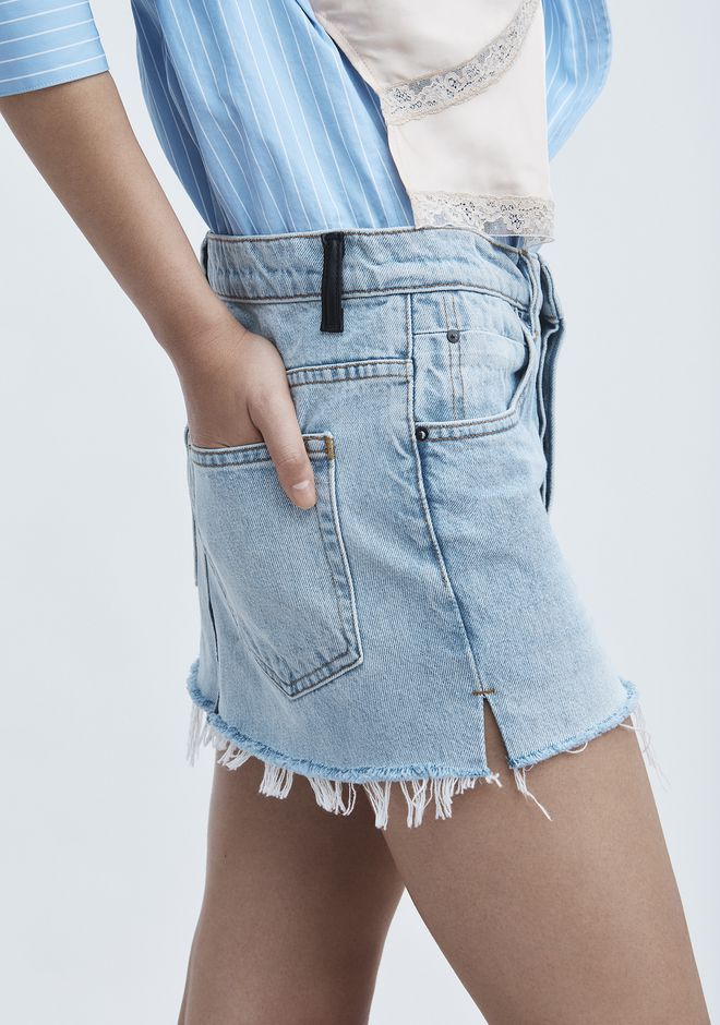 ALEXANDER WANG EXCLUSIVE DENIM MINI SKIRT  JEAN Adult 12_n_r