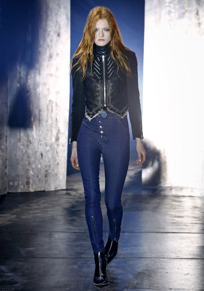 ALEXANDER WANG HIGH-WAISTED DENIM LEGGINGS WITH MULTI-SNAP DETAIL PANTS Adult 12_n_a