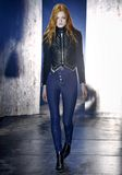 ALEXANDER WANG HIGH-WAISTED DENIM LEGGINGS WITH MULTI-SNAP DETAIL PANTS Adult 8_n_a