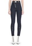 ALEXANDER WANG HIGH-WAISTED DENIM LEGGINGS WITH MULTI-SNAP DETAIL PANTS Adult 8_n_d