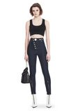 ALEXANDER WANG HIGH-WAISTED DENIM LEGGINGS WITH MULTI-SNAP DETAIL PANTS Adult 8_n_f