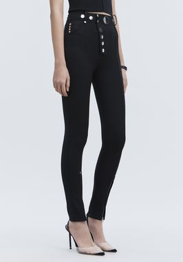 HIGH-WAISTED LEGGINGS WITH MULTI-SNAP DETAIL