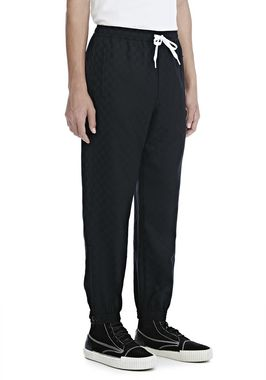 CHECKERBOARD WOOL JACQUARD TRACK PANTS