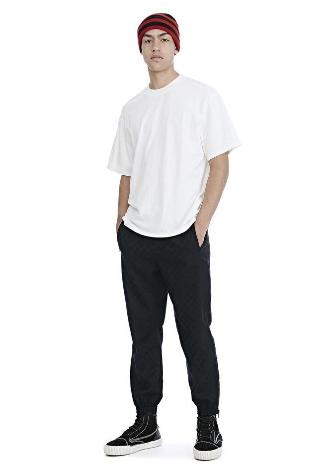 ALEXANDER WANG PANTS Men CHECKERBOARD WOOL JACQUARD TRACK PANTS