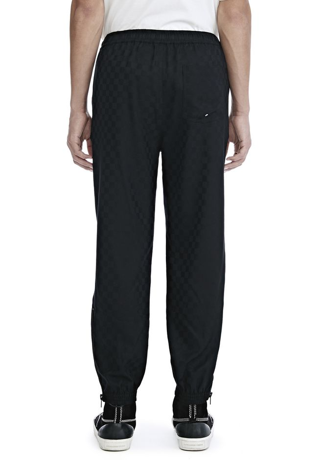 ALEXANDER WANG CHECKERBOARD WOOL JACQUARD TRACK PANTS PANTS Adult 12_n_a