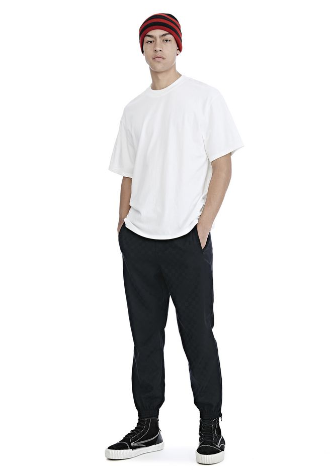 ALEXANDER WANG CHECKERBOARD WOOL JACQUARD TRACK PANTS PANTS Adult 12_n_f