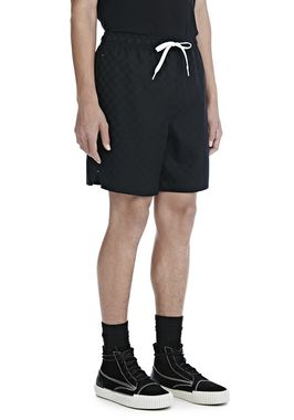 CHECKERBOARD WOOL JACQUARD SOCCER SHORTS