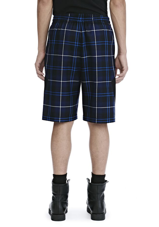 ALEXANDER WANG WOOL TARTAN BASKETBALL SHORTS SHORTS Adult 12_n_a