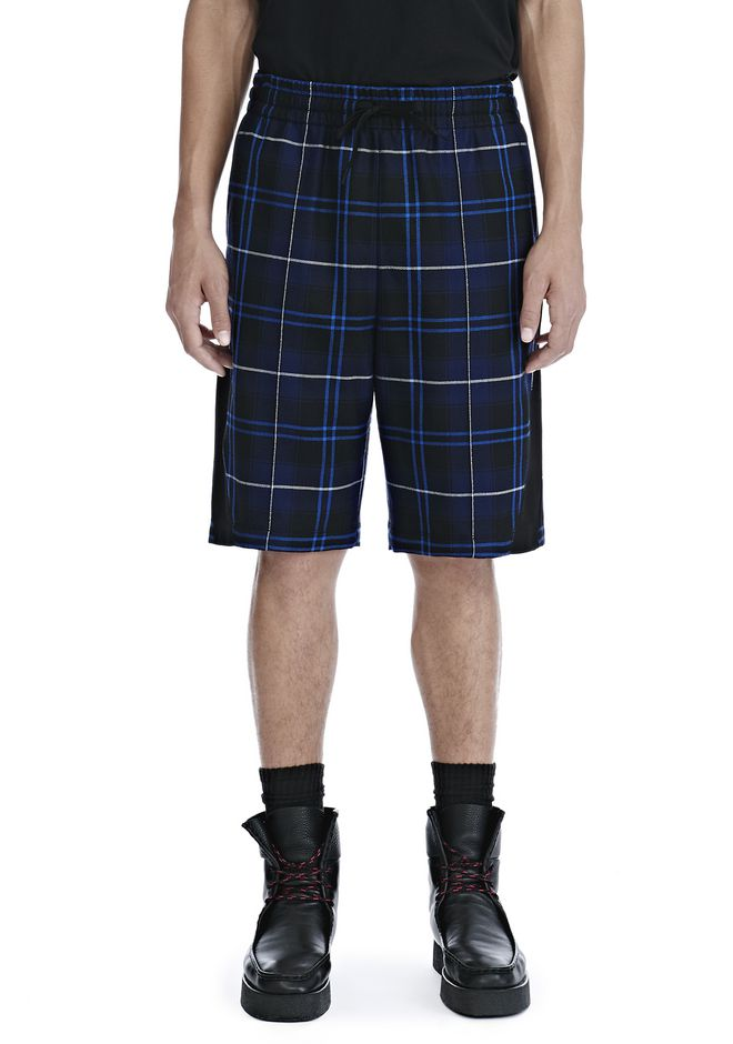 ALEXANDER WANG WOOL TARTAN BASKETBALL SHORTS 短裤 Adult 12_n_d