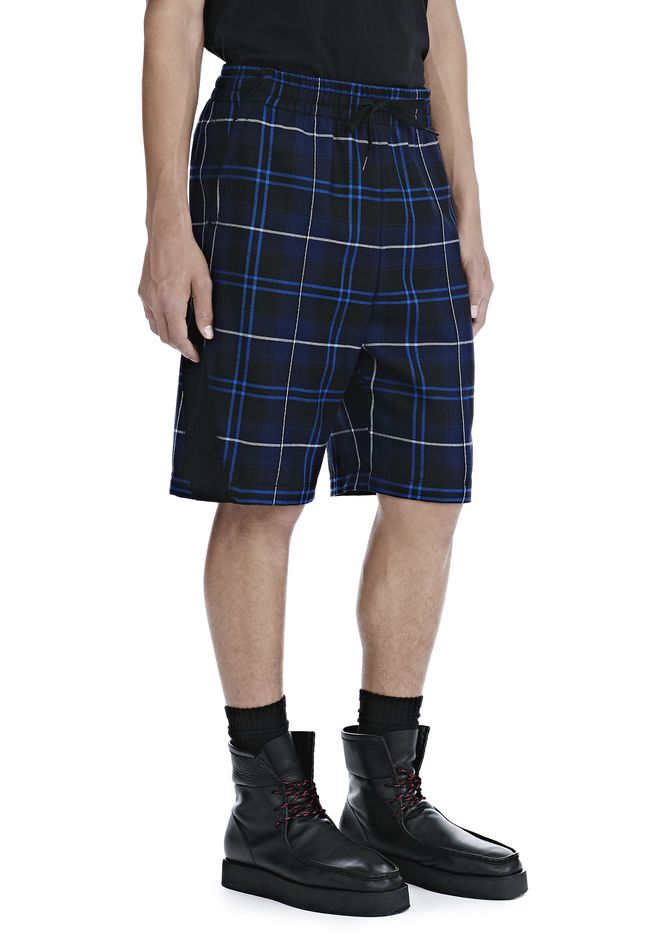 ALEXANDER WANG WOOL TARTAN BASKETBALL SHORTS SHORTS Adult 12_n_e