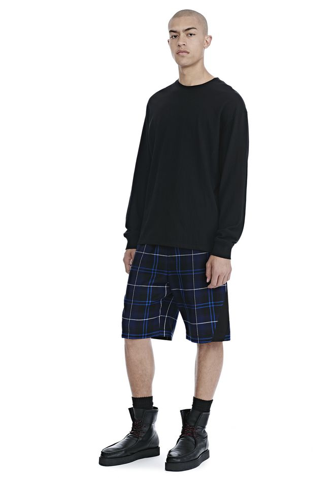 ALEXANDER WANG WOOL TARTAN BASKETBALL SHORTS SHORTS Adult 12_n_f