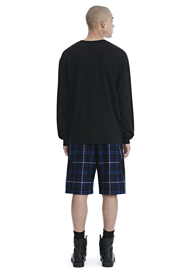 ALEXANDER WANG WOOL TARTAN BASKETBALL SHORTS SHORTS Adult 12_n_r