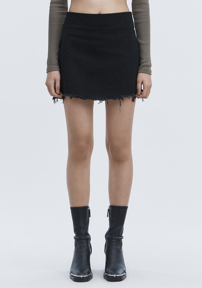ALEXANDER WANG ZIP MINI SKIRT  DENIM Adult 12_n_a