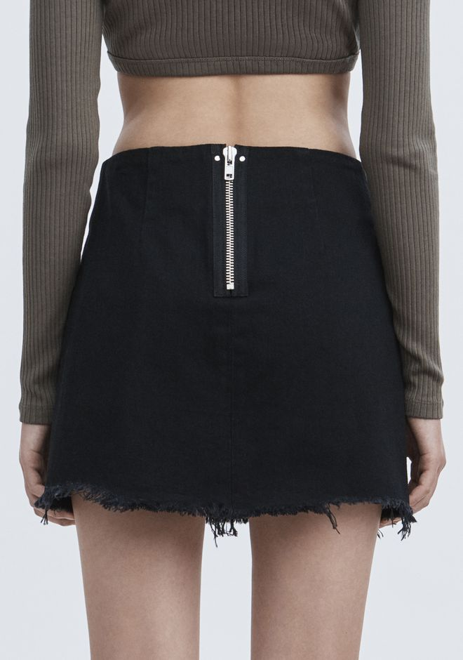 ALEXANDER WANG ZIP MINI SKIRT  DENIM Adult 12_n_d