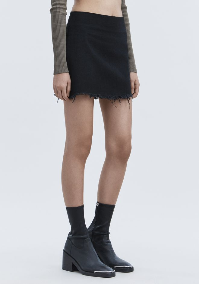 ALEXANDER WANG ZIP MINI SKIRT  DENIM Adult 12_n_e