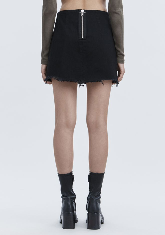 ALEXANDER WANG ZIP MINI SKIRT  DENIM Adult 12_n_r