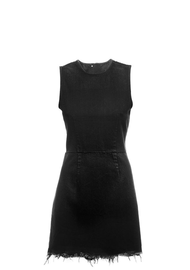 ALEXANDER WANG ZIP DENIM DRESS  DENIM Adult 12_n_a