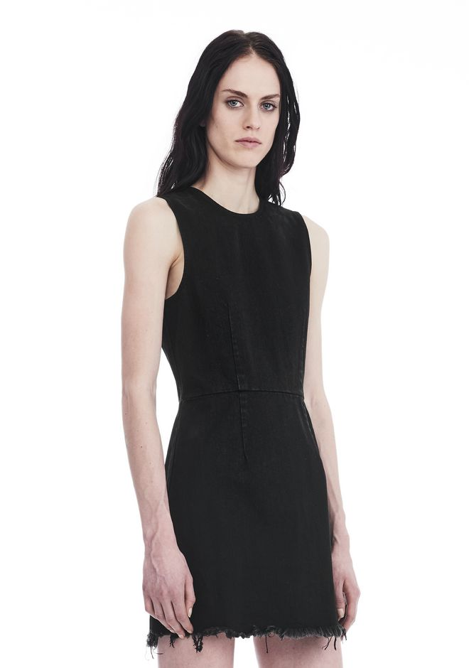 ALEXANDER WANG ZIP DENIM DRESS  DENIM Adult 12_n_d