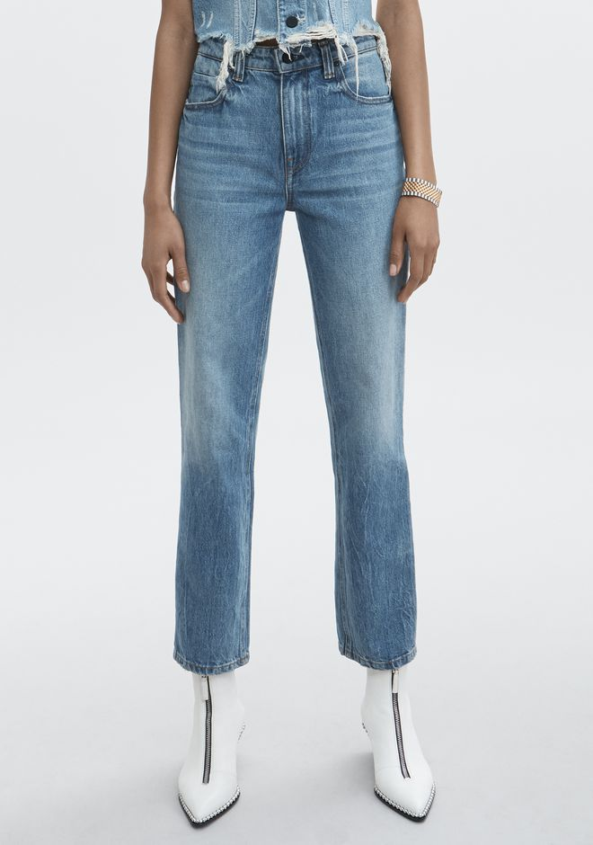 ALEXANDER WANG CULT STRAIGHT LEG JEAN DENIM Adult 12_n_e