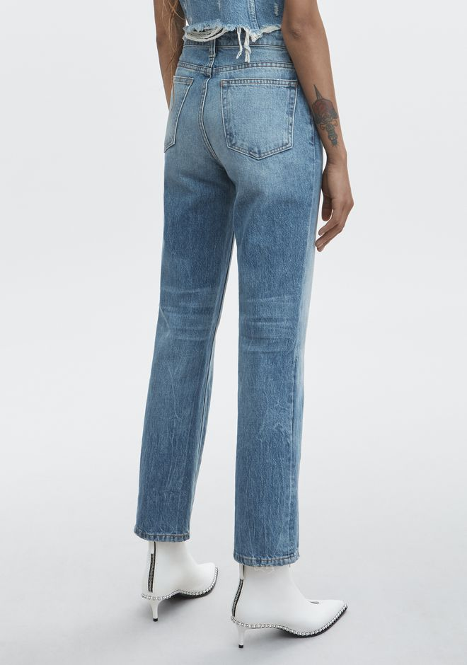 ALEXANDER WANG CULT STRAIGHT LEG JEAN DENIM Adult 12_n_r
