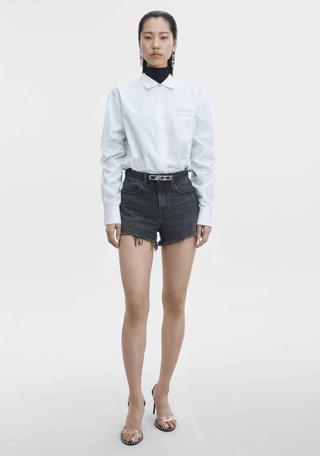 ALEXANDER WANG BITE CUT-OFF DENIM SHORTS デニム Adult 12_n_f