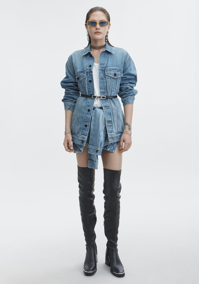 ALEXANDER WANG classic-denim DAZE OVERSIZED DENIM JACKET