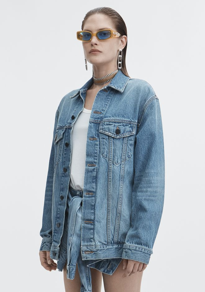 ALEXANDER WANG DAZE OVERSIZED DENIM JACKET DENIM Adult 12_n_d