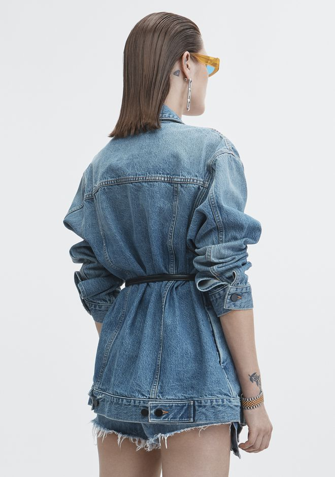 ALEXANDER WANG DAZE OVERSIZED DENIM JACKET DENIM Adult 12_n_e