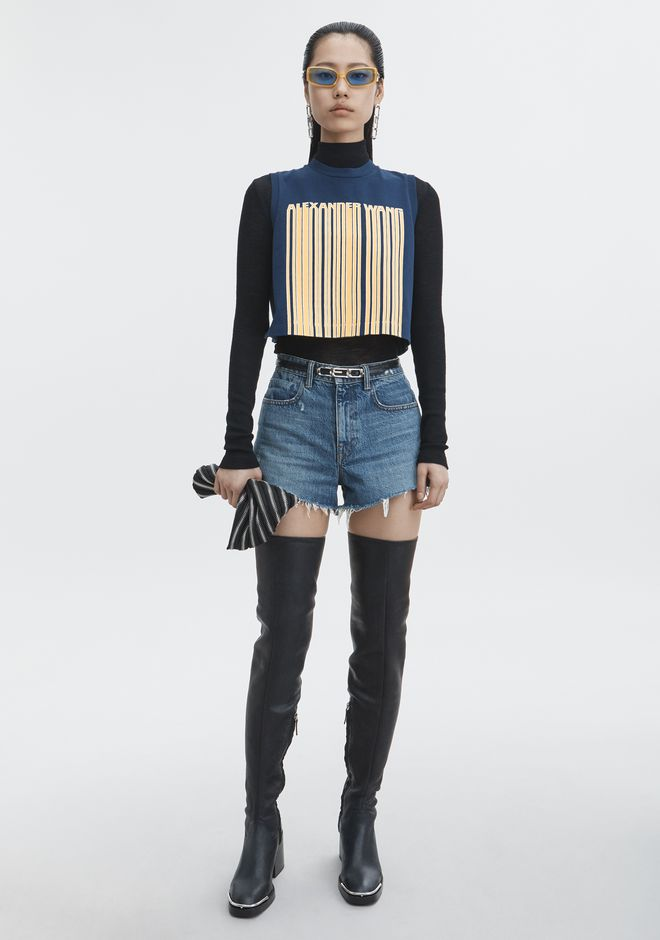 ALEXANDER WANG classic-denim BITE CUT-OFF DENIM SHORTS