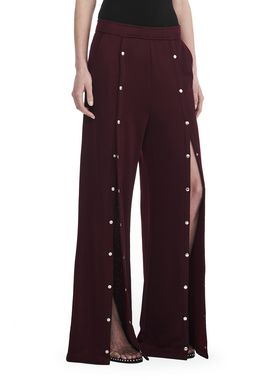WIDE LEG PULL ON PANTS WITH SNAPS