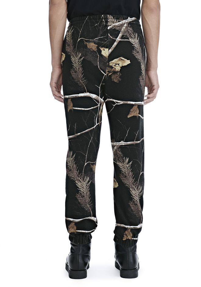 ALEXANDER WANG WINTER CAMO FLEECE SWEATPANTS PANTS Adult 12_n_a