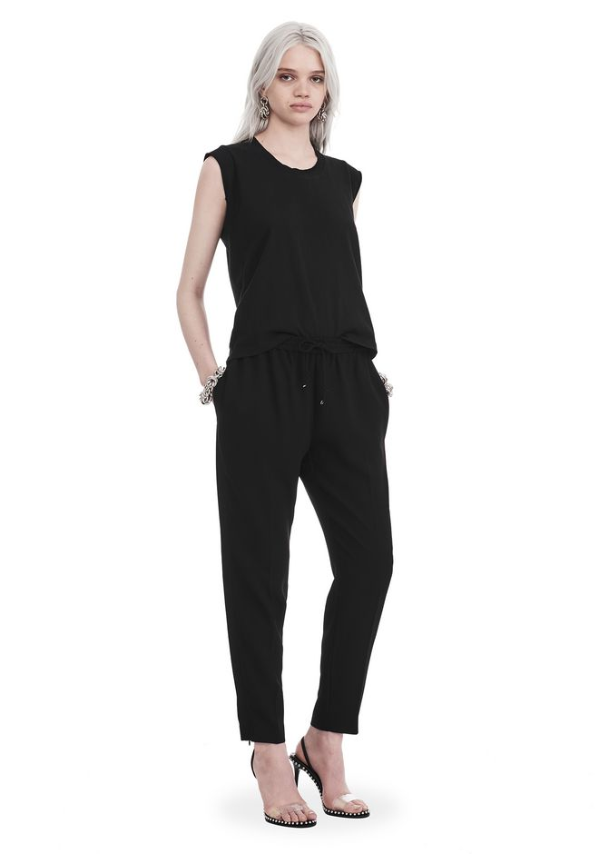 T by ALEXANDER WANG sltbbtm SATIN CREPE  WELDED PANTS