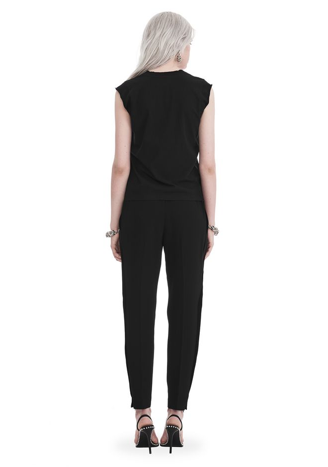 T by ALEXANDER WANG SATIN CREPE  WELDED PANTS PANTS Adult 12_n_r