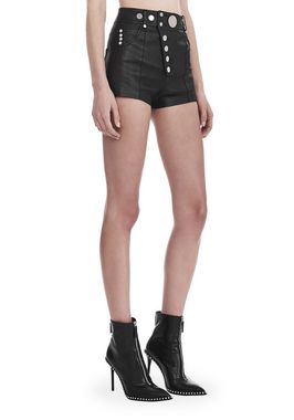 HIGH WAISTED MINI SHORTS WITH MULTI SNAP DETAIL