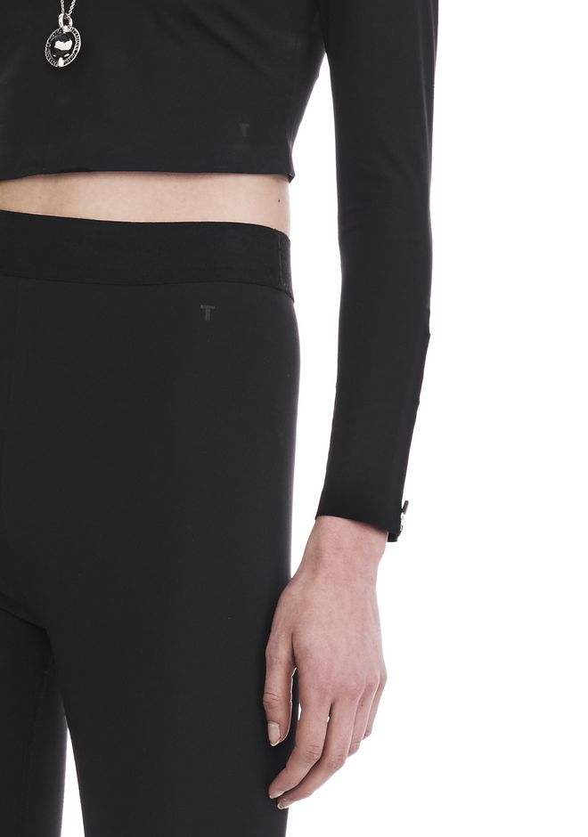 T by ALEXANDER WANG COMPACT STRETCH LEGGING  裤装 Adult 12_n_r
