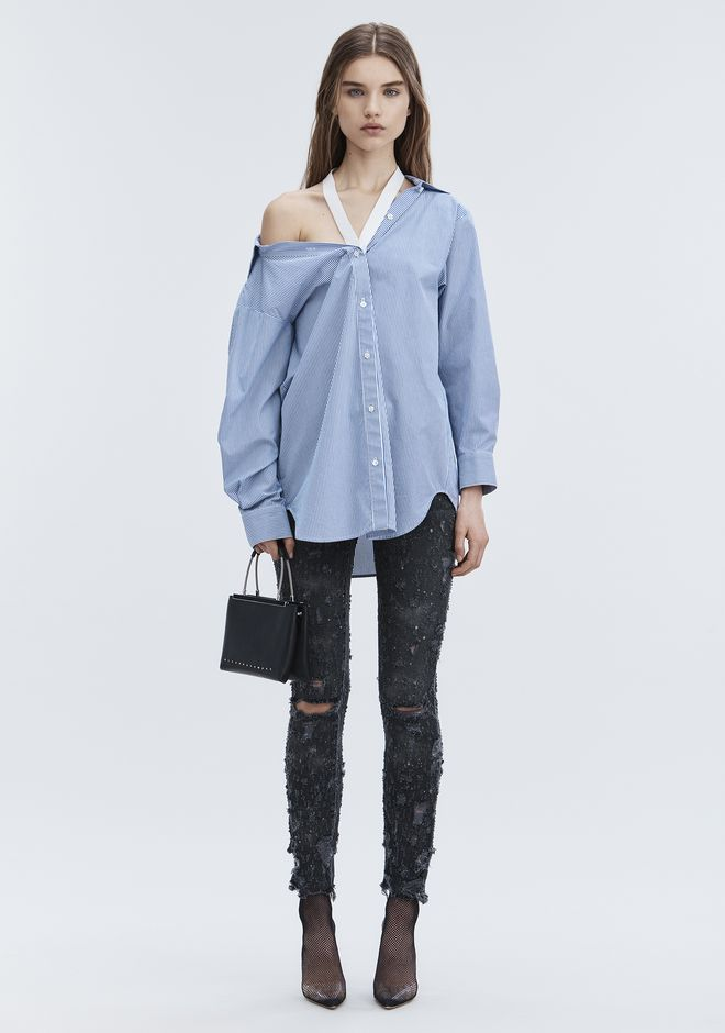 ALEXANDER WANG WHIPLASH DESTROYED JEAN DENIM Adult 12_n_f