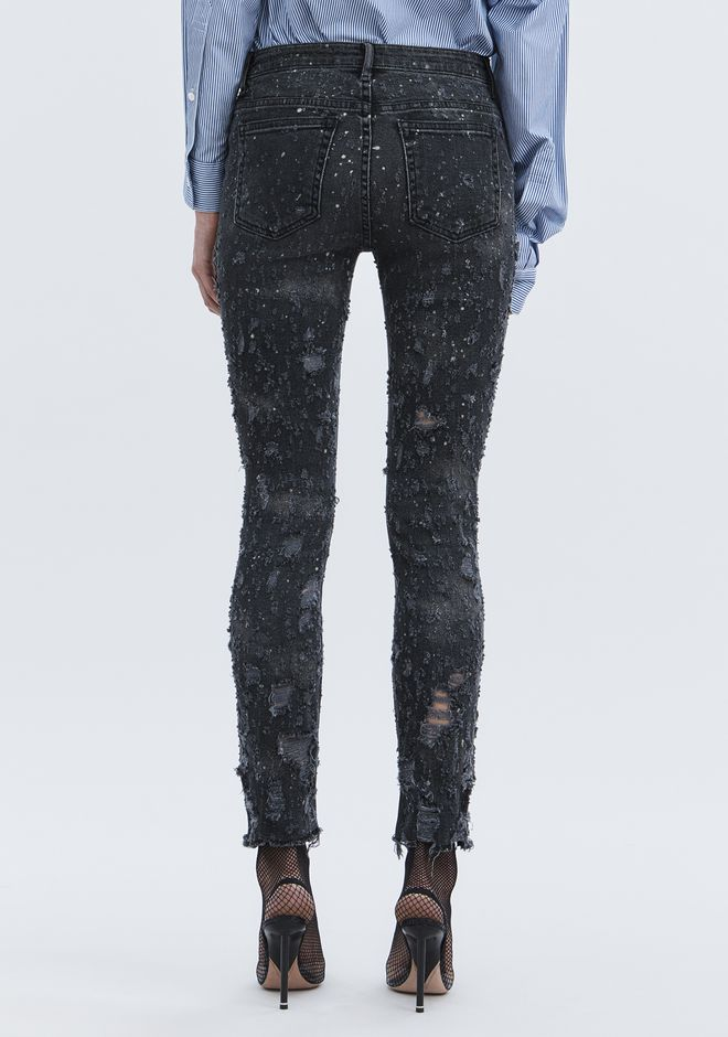 ALEXANDER WANG WHIPLASH DESTROYED JEAN DENIM Adult 12_n_r