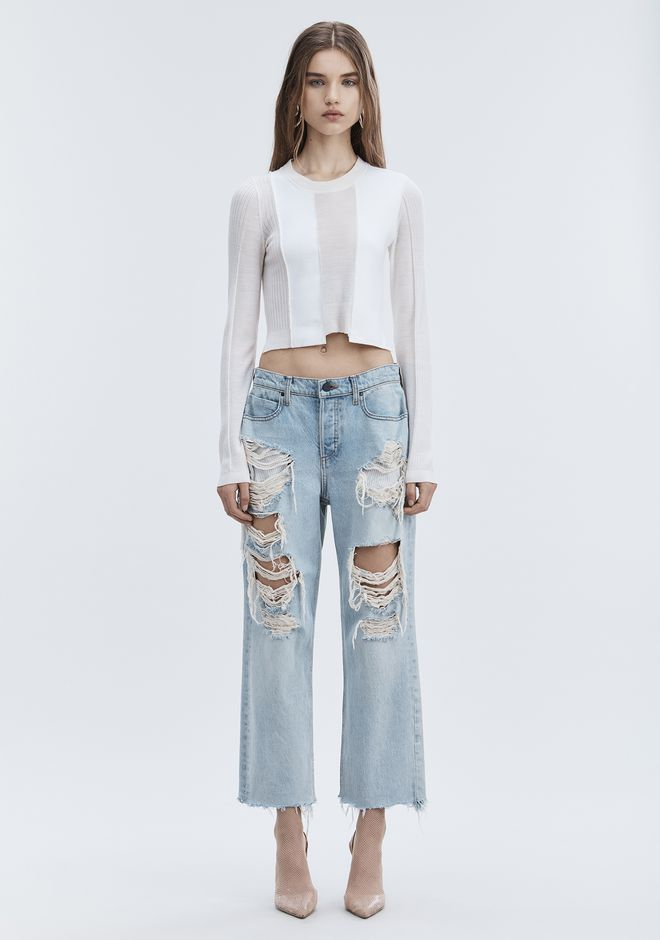 ALEXANDER WANG denim-x-aw RIVAL BOY FIT JEAN