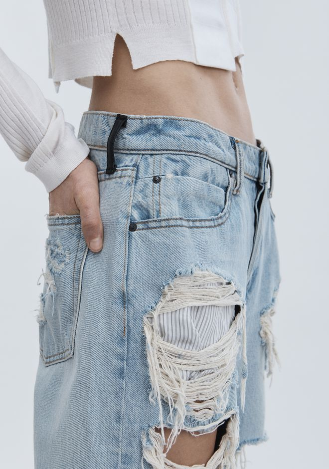 ALEXANDER WANG RIVAL BOY FIT JEAN DENIM Adult 12_n_d